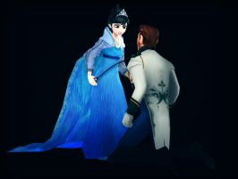 Evil Elsa and Hans by Simmeh