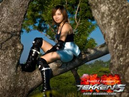 Asuka on the tree by hellsign