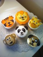 Animal Cupcakes by simplysweets