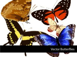 Vector Butterflies by remittancegirl