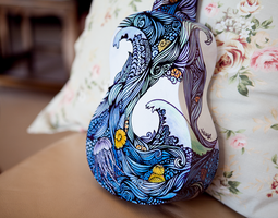 Ukulele Design - The Sea - Back by vivsters