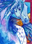 Horse Expressions ACEO 9 by jupiterjenny