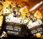 Summer Gone Wild Party Flyer Template by Party-Flyer
