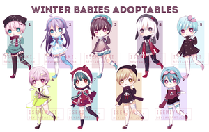 [OPEN] Winter Babies Adopt Auction by Isemiyaki