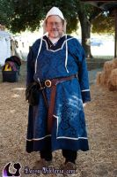 Blue Brocade Viking Tunic by DaisyViktoria