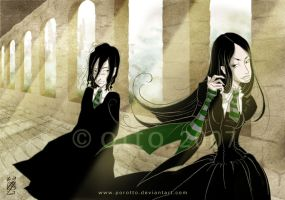HP . Severus + Bellatrix by porotto