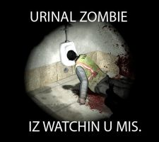 Urinal Zombie by Link306