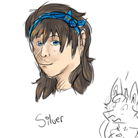 Human Silver Headshot Doodle by FeatheredSoap