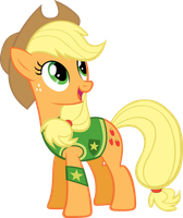 Winter Wrap Up - Applejack by Kishmond