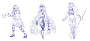 Superhero Disney Princesses 2 by DeathByBacon