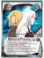 Pcomm: Hikari and Pazuru card by Miss-Sheepy