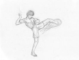 Fire Kick Sketch by Radiance-Eternal