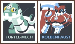 Vote Bonne Mech Poster by rongs1234