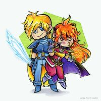 Lina + Gourry by SaltyMoose