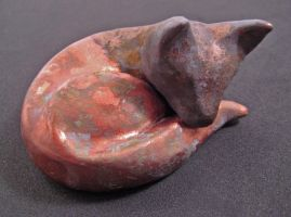 Sleeping Cat Sculpture by lani-enigma
