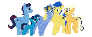 DCU-MLP Blue 'n Gold Ponies by ajremix