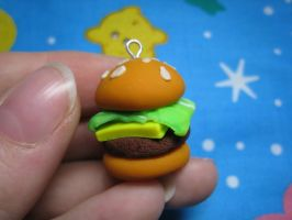 Cheeseburger Charm by skookyspry