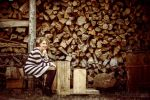 Girl With Logs by matejpaluh