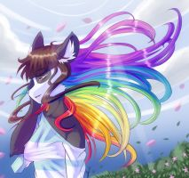Rainbow in the breeze by WhitePhox