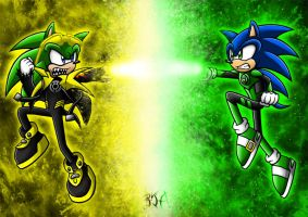 Green Lantern Sonic vs Sinestro Corps Scourge by Berty-J-A