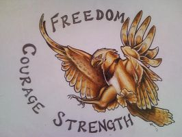 Freedom - Courage - Strength by tattoo-parlour