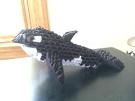 3D Origami Killer Whale (side view) by Joeseares96
