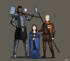 Brunhilda, Masondra, Vaast and Trixa by Blazbaros
