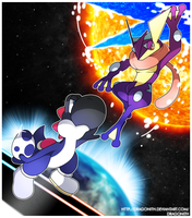 SSB4: VS Greninja! by Dragonith