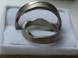 Wedding rings by Jewellery-jen