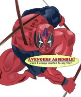 Deadpool: AVENGERS ASSEMBLE by ProjectCornDog