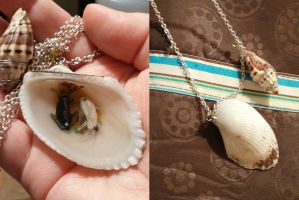 Avatar: Moon and Ocean Yin Yang Koi Shell by ShadyDarkGirl