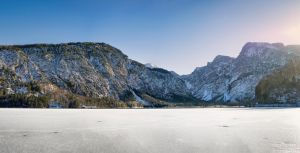 background - frozen lake - almsee by 8moments