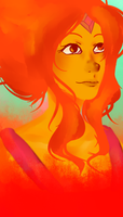 Flame Princess by Tahmaxm