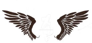 Tribal Wings Tattoo by Frozen-Wrath