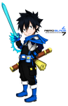 Little Swordsman - Fairy tail(Coloring) by aeroblade7