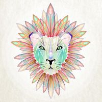 lion colorful by MaNoU56