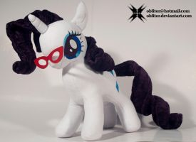 Rarity with her glasses by Oblitor