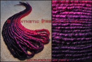 10 DE wrapped dreads by Masquerade-Infernale