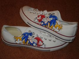 Sonic shoes by yoyoninjagirl