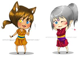 Kat and Ryuki by Roots-Love