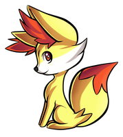 Fennekin by Ashteritops
