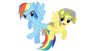 [MLP Comission] Rainbow Dash and Liberty  VECTO by Luke262