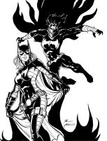 Steph Batgirl and Cass Black Bat by BrianAtkins