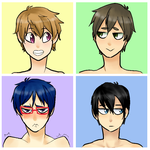 my swimmer bishies by TSCLonix