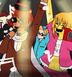 [APH-FNAF] New Year RAVE by Jink-Elise