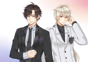 Commission: Zen and Jumin Han by rossomimi