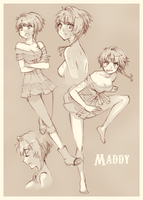Maddy character sheet by Goku-chan