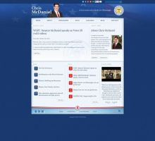 Senator Chris McDaniel Website by HappyCatfishWeb