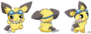 Sparks poses by pichu90