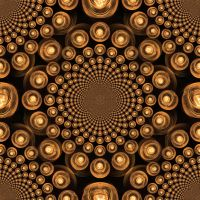 Orange Orbs Tiled Background 6 by Windthin